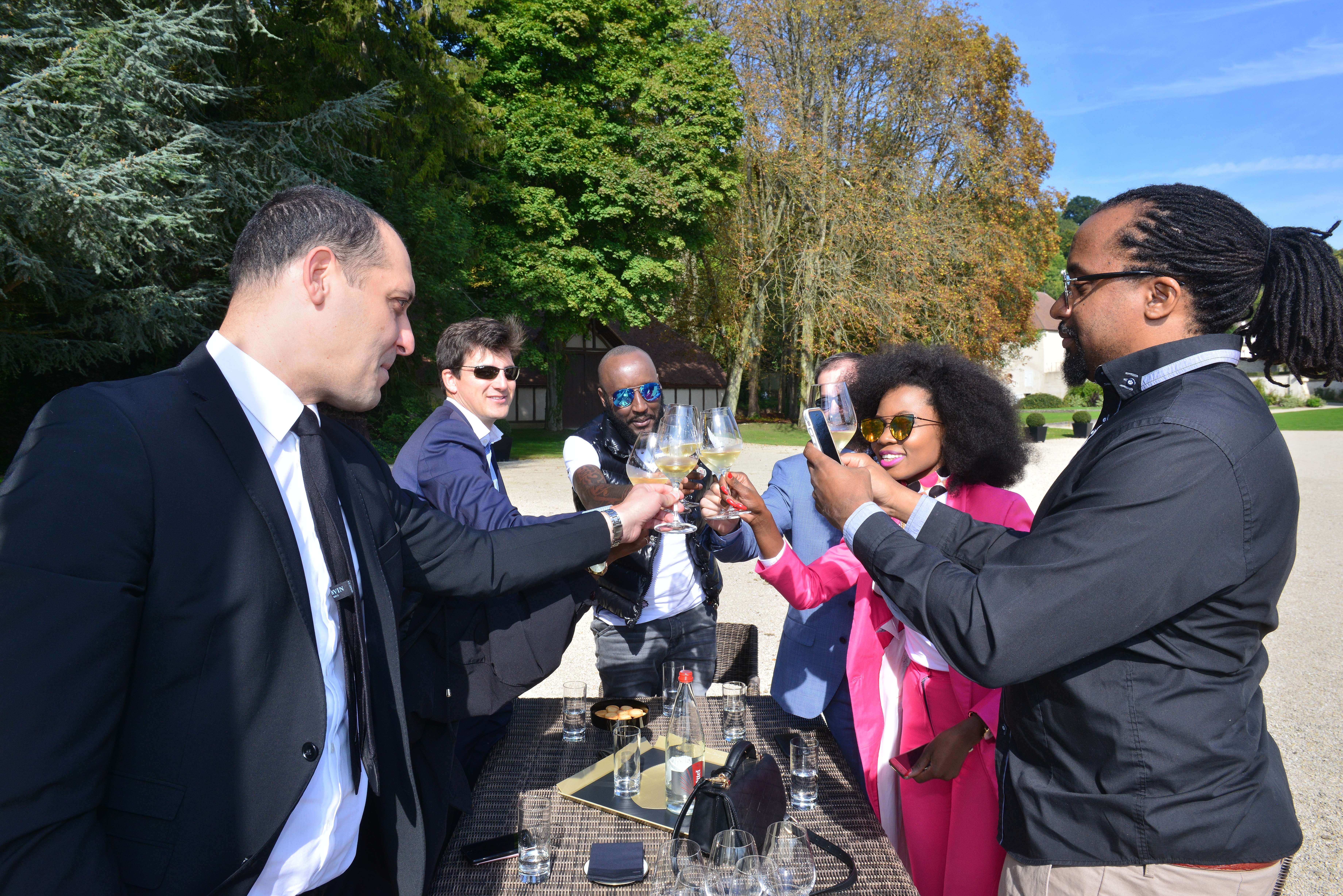 Pierre-Louis Araud Moët & Chandon's Brand Developement Manager joins the team at the Dom Perignon Abbey