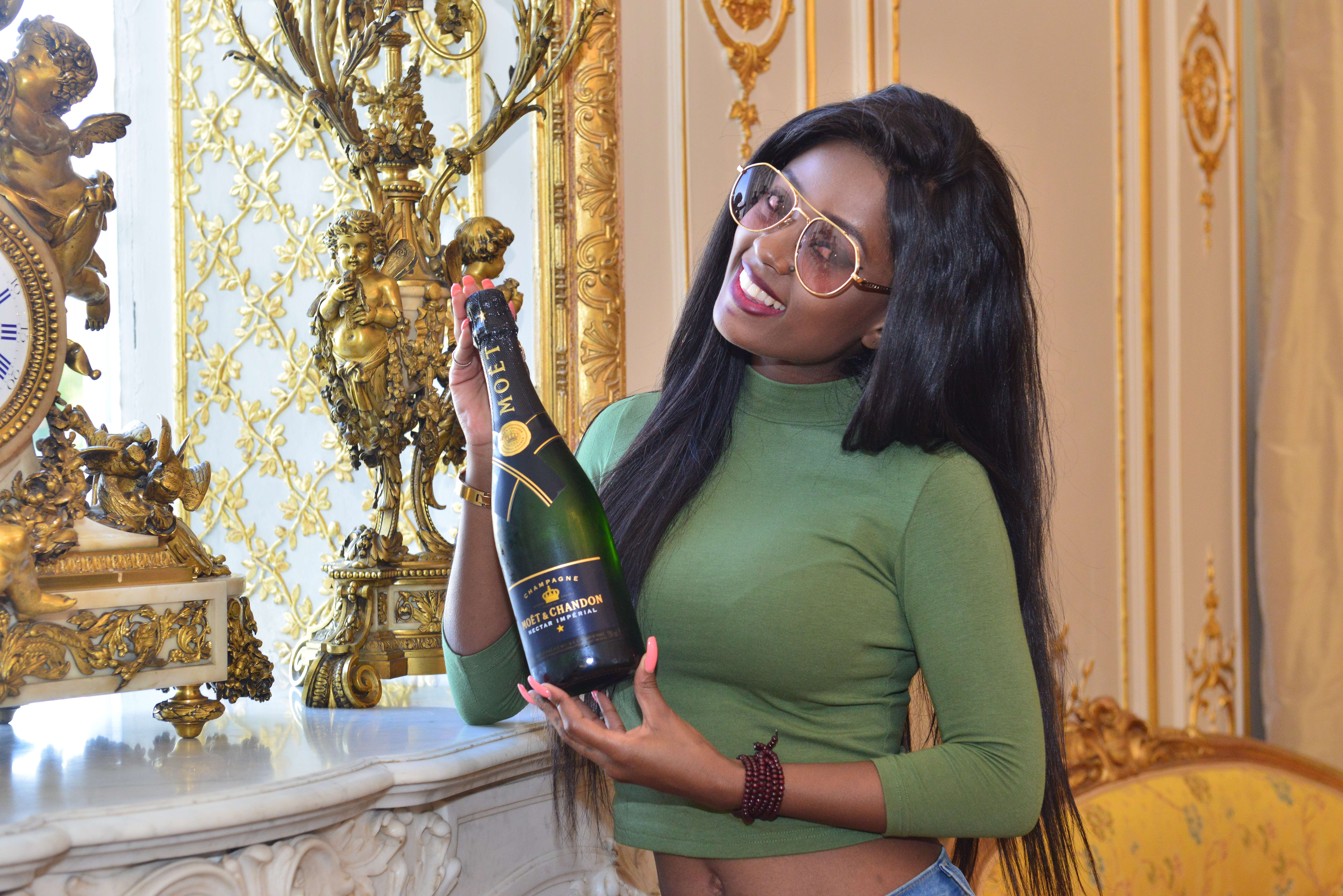 Vanessa Mdee at the Moët & Chandon Castle